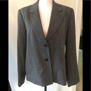 Rafaella size 14 gray blazer-lined